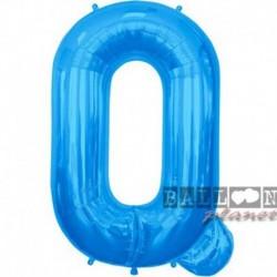 Pallone Lettera Q Blu 90 cm