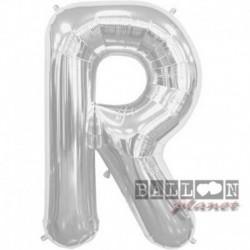 Pallone Lettera R Argento 90 cm