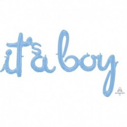 Pallone Script It's a Boy 68x50 cm