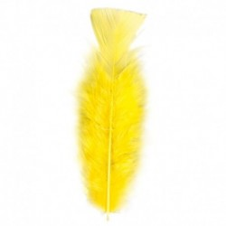 50 Piume Gialle 10 cm
