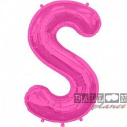 Pallone Lettera S Fucsia 90 cm
