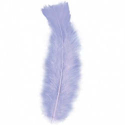 50 Piume Viola 10 cm