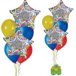 Composizione Stelle Happy Birthday