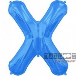 Pallone Lettera X Blu 90 cm