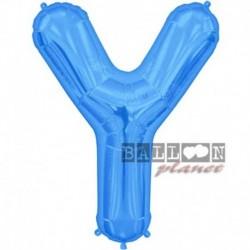 Pallone Lettera Y Blu 90 cm