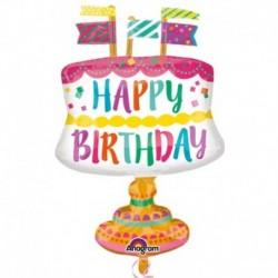 Pallone Birthday Cupcake 85 cm