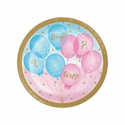 Piatto Gender Reveal 18 cm