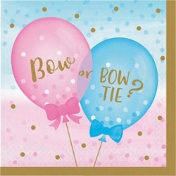 16 Tovaglioli Gender Reveal 33x33 cm