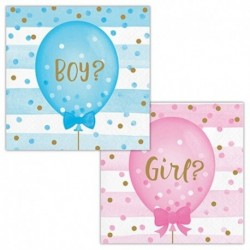 16 Tovaglioli Gender Reveal 25x25 cm
