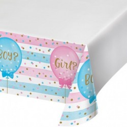 Tovaglia Plastica Gender Reveal 137x259 cm
