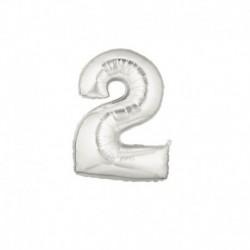 Pallone Numero 2 Argento 20 cm