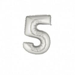 Pallone Numero 5 Argento 20 cm