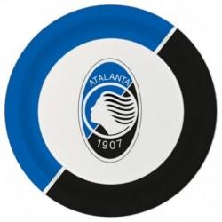 8 Piatti Tondi Carta Atalanta 23 cm