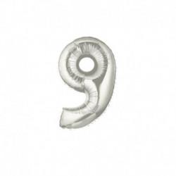 Pallone Numero 9 Argento 20 cm
