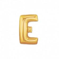 Pallone Lettera E Oro 20 cm