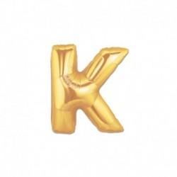 Pallone Lettera K Oro 20 cm
