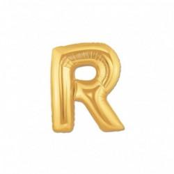 Pallone Lettera R Oro 20 cm