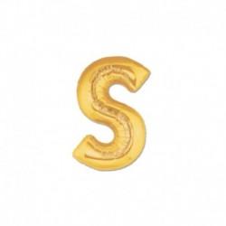 Pallone Lettera S Oro 20 cm