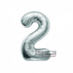 Pallone Numero 2 Argento 40 cm