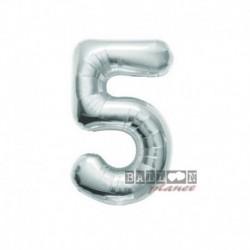 Pallone Numero 5 Argento 40 cm