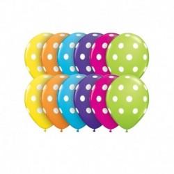 Palloncini Pois Color 12 cm