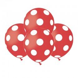 Palloncini Pois Rossi 12 cm