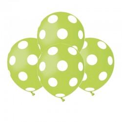 Palloncini Pois Verde Lime 12 cm