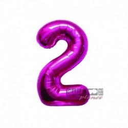 Pallone Numero 2 Fucsia 40 cm
