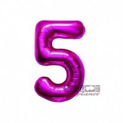 Pallone Numero 5 Fucsia 40 cm