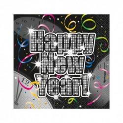 16 Tovaglioli Carta Happy N.Y. 25x25 cm