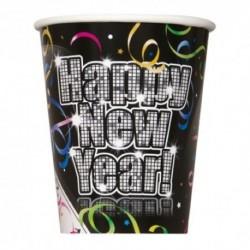 8 Bicchieri Carta Happy N. Y. 266 ml