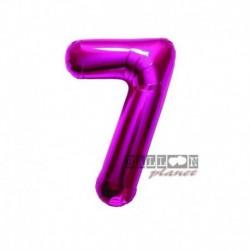 Pallone Numero 7 Fucsia 40 cm