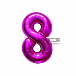 Pallone Numero 8 Fucsia 40 cm
