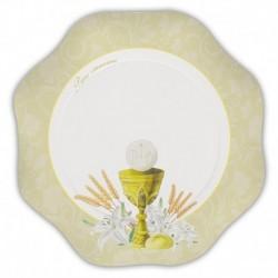 10 Piatti Comunione Ivory 23 cm