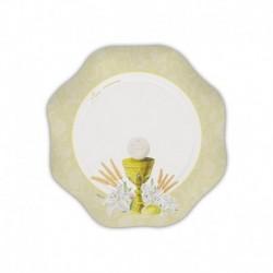 10 Piatti Comunione Ivory 18 cm