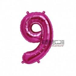 Pallone Numero 9 Fucsia 40 cm