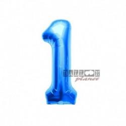 Pallone Numero 1 Blu 40 cm