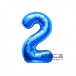 Pallone Numero 2 Blu 40 cm
