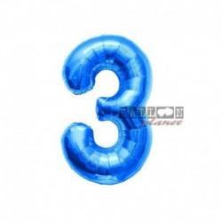 Pallone Numero 3 Blu 40 cm