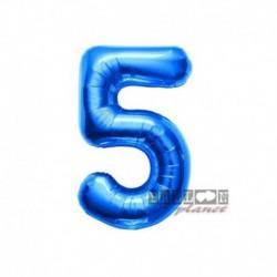 Pallone Numero 5 Blu 40 cm