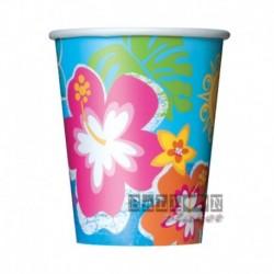 8 Bicchieri Carta Hawaii 270 ml