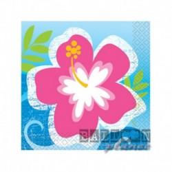 16 Tovaglioli Carta Hawaii 25x25 cm