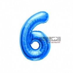 Pallone Numero 6 Blu 40 cm