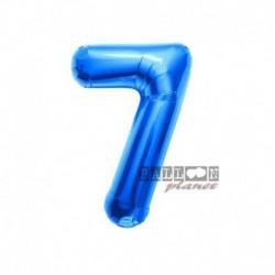 Pallone Numero 7 Blu 40 cm