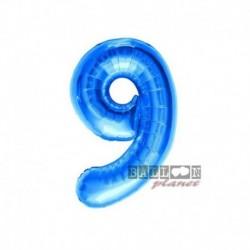 Pallone Numero 9 Blu 40 cm