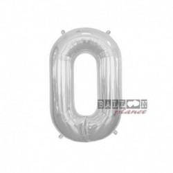 Pallone Numero 0 Argento 40 cm