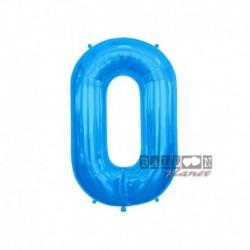 Pallone Numero 0 Blu 40 cm