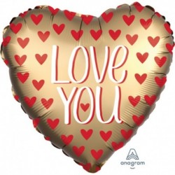 Pallone Cuore I Love You Gold 70 cm