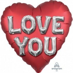 Pallone Love You Letters 70 cm
