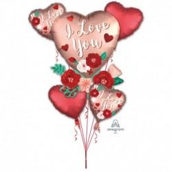 Bouquet 5 Palloni I Love You